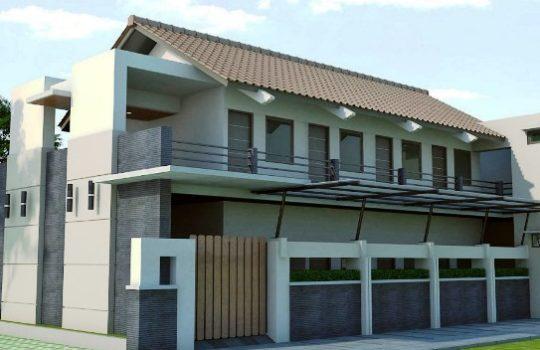 Contoh Desain Rumah Kontrakan Tingkat 2 Lantai Minimalis