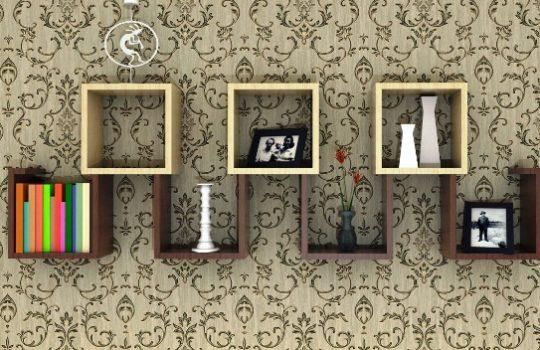 Desain Rak Wallpaper Minimalis Elegan
