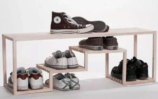 Gambar Desain Rak Sepatu Distro Terbaru