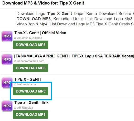 Link Free Download MP3